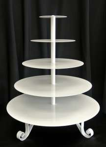 Cupcake Tree, 5 Tier Round, Scroll Leg