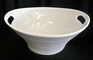 White, Round W/Handle, 15.75″