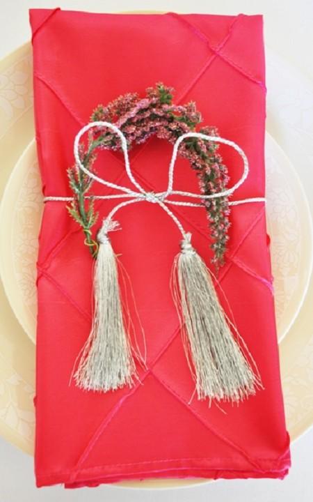 Fuchsia Pintuck Napkin