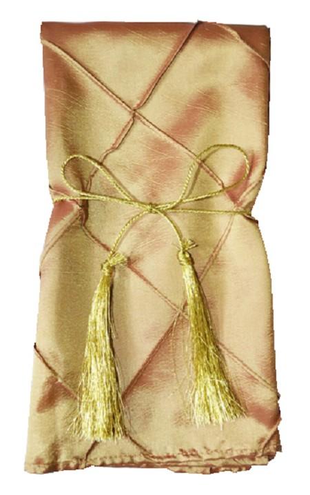 Gold Pintuck Napkin