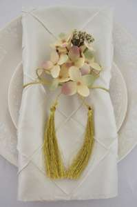 Ivory Pintuck Napkin