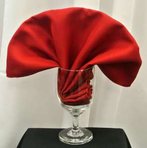 Cherry Red Poly Napkin