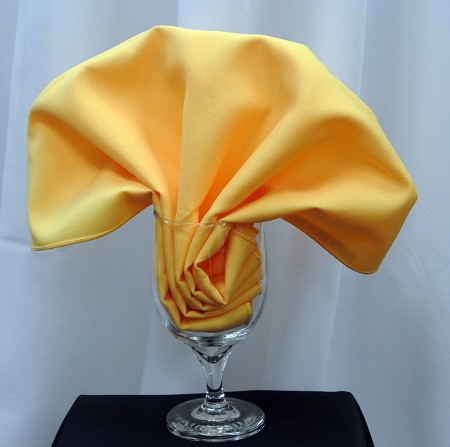 Goldenrod Poly Napkin