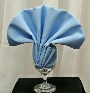 Light Blue Poly Napkin