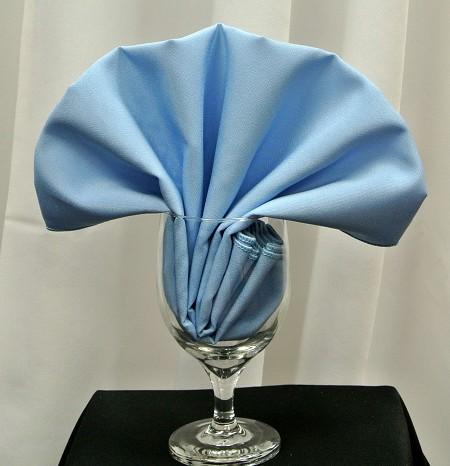 Light Blue Poly Napkin