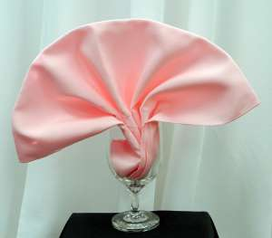 Light Pink Poly Napkin