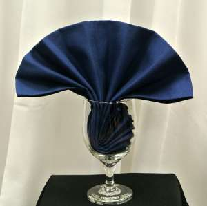 Navy Blue Poly Napkin
