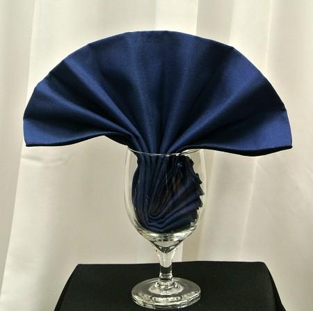 Navy Blue Poly Napkin