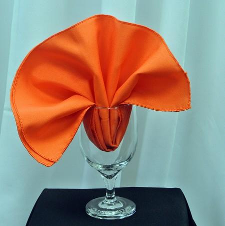 Orange Poly Napkin