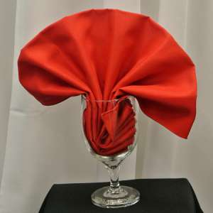 Red Poly Napkin