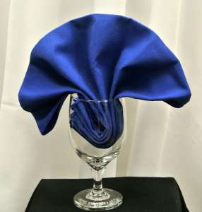 Royal Blue Poly Napkin