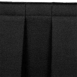 Black 13.5ft Boxpleat Skirt