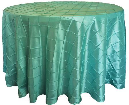 Aqua/Tiffany Blue 108″ Round Pintuck