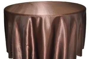 Chocolate 132″ Satin