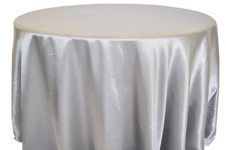 Silver 120″ Round Satin