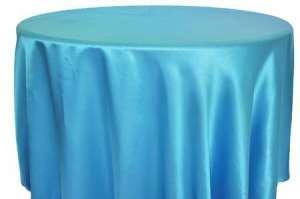 Turquoise 120″ Round Satin