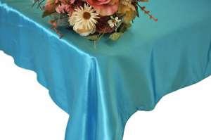 Turquoise 90″ x 156″ Satin