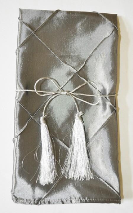 Silver Pintuck Napkin