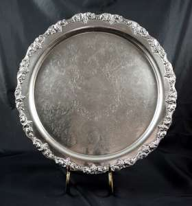 Silver, Round 20″