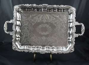 Silver, Rectangular, 15″ X 20″ W/ Handles