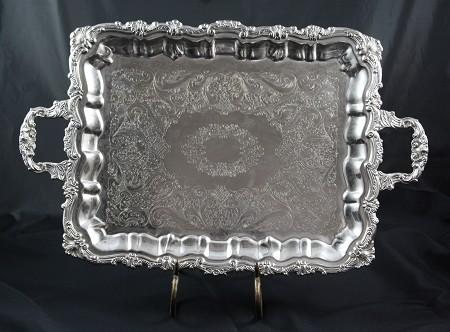 Silver, Rectangular, 14″ X 18″ W/ Handles