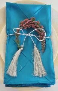 Turquoise Pintuck Napkin